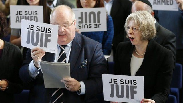 Theresa Je Suis Juif  May and Sir. Eric Holocaust Envoy Pickles.